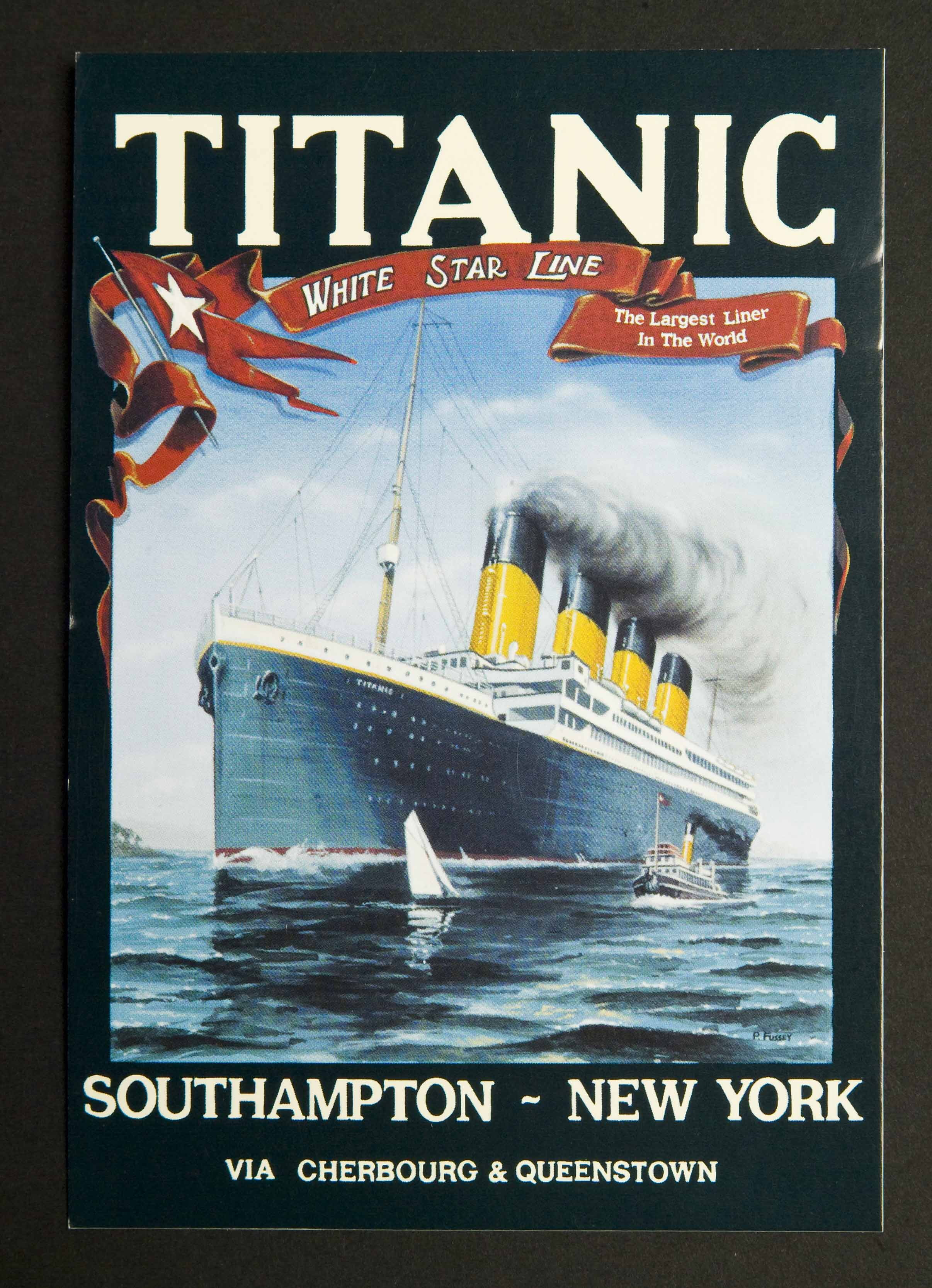 White Star Line Titanic Postcards (6)